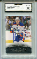 2015 Connor McDavid Upper Deck Overtime rookie gem mint 10 #180