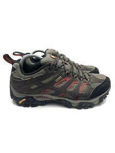 Merrell Moab Gore Tex XCR Hiking Shoes Brown/Tan/Red J87323 Men's Size 9 Vibram