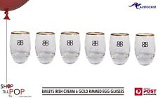 Baileys Irish Cream Liqueur 6 Luxury Gold Rimmed Spirit Cocktail Glasses 2 set