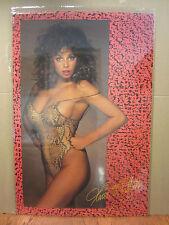 vintage Maria Whittaker 1987 Hot girl car garage man cave  Original Poster 4048
