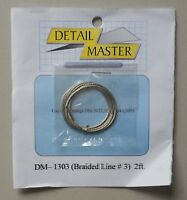 BRAIDED LINE #3 1:24 1:25 DETAIL MASTER CAR MODEL ACCESSORY 1303