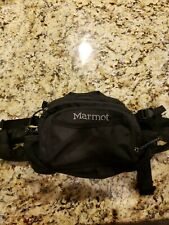 Marmot Black Fanny Pack Hiking Camping Outdoor Travel VGUC