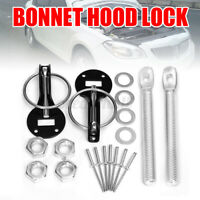 Universal Car Flush Hood Mount Bonnet Latch Catch Pin Key Locking Kit
