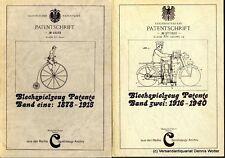 Blechspielzeug-Patente. Bd. 1. 1878 - 1915 + Bd. 2. 1916 - 1940 v. Cieslik