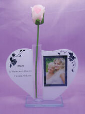 Glass Mum Mother Mummy Gift Birthday Anniversay Oranament Photo Frame Holder
