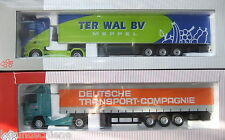 2 NZG camions 1:50 - SCANIA R Kühlkoffer TER baleine + MB Actros DTC #7141/03 + 555/02
