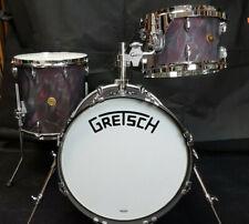 Gretsch Broadkaster Serie Jazz Drumset Black Satin Flame USA Schlagzeug Drums