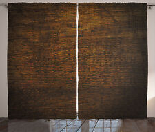 Wooden Curtains Antique Timber Vintage Window Drapes 2 Panel Set 108x84 Inches