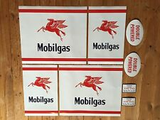 Mobilgas CM decal set - self-adhesive vinyl decal for petrol bowser / pump