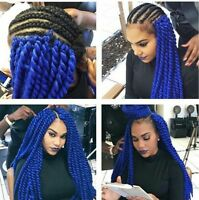 """22"""" Synthetic Braiding Mambo Twists Crochet Braids Hair Extensions 12 Strands"""