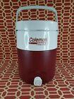 Vintage Coleman Polylite 2 Burgundy Flip Top Spout 2 Gallon Water Jug 5592 A
