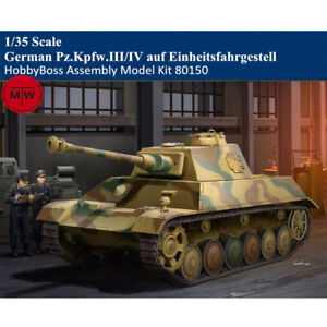 HobbyBoss 80150 1/35 German Pz.Kpfw.III/IV auf Einheitsfahrgestell Tank Model