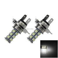 2x White Car H4 Signal Light Fog Blub 18 Emitters 5050 SMD LED P43t H102