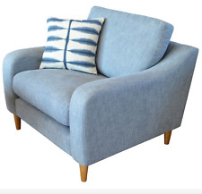 Henley / Halo Snuggler Sofa Armchair Denim Pale Blue RRP £999 New with Warranty