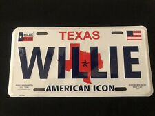 Willie Nelson American Icon Texas Souvenir 12 X 6 License plate Vanity