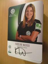 67590 Karoline Wacker DFB Schiedsrichter original signierte Autogrammkarte