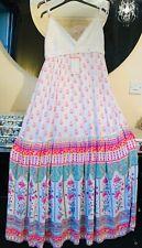 New Angela Plus Size 22 White Stretch Long Maxi Strappy Summer Sun Dress