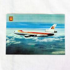 IBERIA Airlines - DC10 - Avión Tarjeta postal - De Calidad Superior