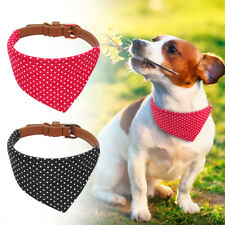Bandana-Style Small Dogs Cats Puppy Neck Scarf Neckerchief Dog Leather Collar