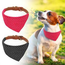 Small Dog Collar Adjustable Cute Bandana Style Soft Leather Collar Neckerchief