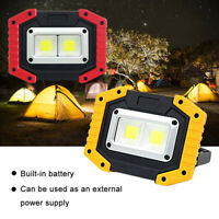 Outdoor Portable Work Lamp 30W Dual COB LED USB Rechargeable Camping Flood Light