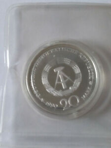 Münze 20 Mark 1990 DDR in PP