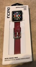 Incipio Reese Double Wrap Replacement Band Apple Watch 42mm Red w/ Gold Clasp