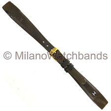 13mm Hirsch Chevreaux Gray Genuine Leather Ladies Open End Watch Band Regular