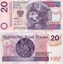 ■■■ Poland 20 zl P-174 1st Release 1994 replaced after 04.2014 UNC and Rare ■■■