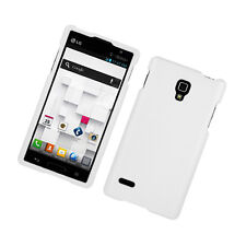 For LG Optimus L9 Rubberized HARD Protector Case  Phone Cover White