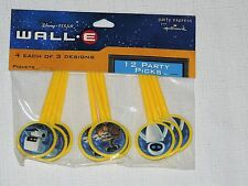 NEW ~WALL.E~ DISNEY PIXAR 12 PARTY PICKSPARTY SUPPLIES