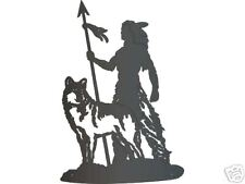 Western Metal Art Brave and Wolf Metal Wall Art