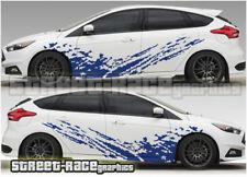 Ford Focus Rally 005 barro Splatter Grunge calcomanías de vinilo de Gráficos Pegatinas de carreras