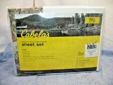 Nip Cabelas Zonz Woodland Sheet Set Full Sz Cotton Creamy White with Camo Accent