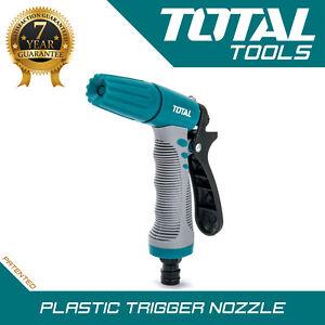 Total Tools - Jet Spray Gun Garden Hose Pipe Adjustable Misting Cone Pattern