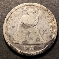 1841 O Seated Liberty Silver Quarter 25c Semi Key Low Mintage Date Obsolete Coin