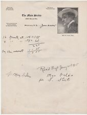 RARE Advertising Billhead - Signed 1915 Max Orlin Artist Photographer Buffalo NY