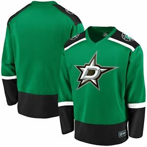 Men's Fanatics Branded Kelly Green Dallas Stars Replica Jersey