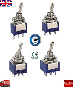 6A 250VAC DPDT SPDT  Manual Reset Toggle Switch Car Boat Dashboard