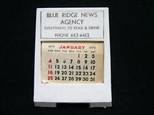 Vintage Frederick Md 1970 Blue Ridge News Agency Mini Advertising Calendar