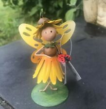 Collectable Gift Garden Ornament Fairy Kingdom Dancing Floral Sunflower Fairy