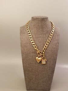 JUICY COUTURE Necklace Charms Gold Tone