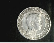 1913-R  Italy, 1 Lira, High  Grade .1342 oz Silver  Coin  (Ity-10)