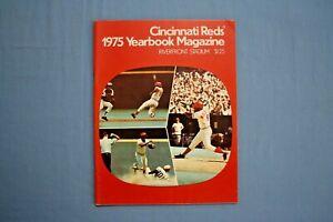 1975 Cincinnati Reds yearbook Joe Morgan cover World Champs ! ex-mt
