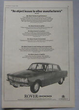 1965 Rover 2000 Original advert No.1
