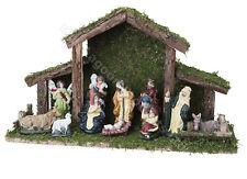 11 Piece 39cm x 23cm Christmas Nativity Set Religious Educational Scene Figures