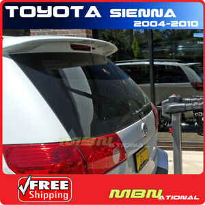 For 04-10 Toyota Sienna Rear Rail Roof Trunk Spoiler Painted ABS 056 WHITE