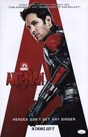 PAUL RUDD Signed 11x17 Photo ANT MAN Marvel Avengers Autograph JSA COA