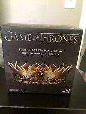 2015 SDCC Exclusive Game of Thrones Robert Baratheon Crown Mini Replica