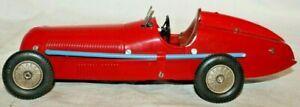 BEAUTY 1936 style MARKLIN MERCEDES-BENZ GP LEMANS RACE CAR with clock-work motor
